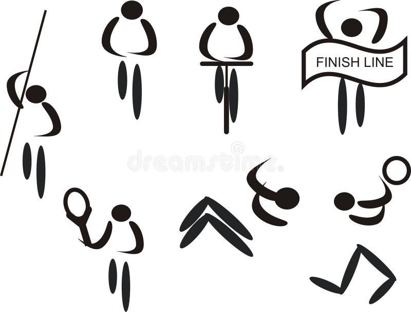 Sports Piktogramme lizenzfreie abbildung