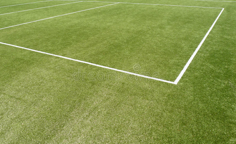 Sports pitch line markings royalty free stock image