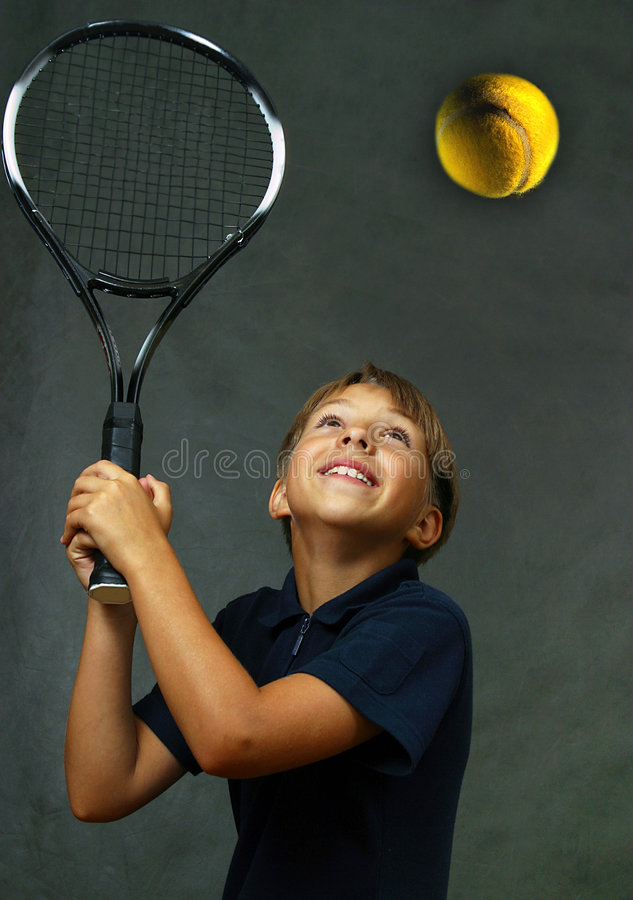 Sports - pleasure. The girl with tennis attributes stock images