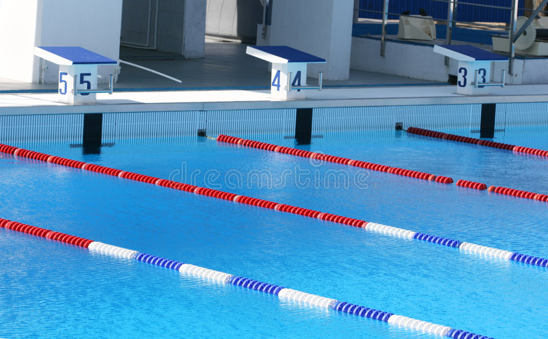 Sports pool. The sports pool is ready to competitions stock photography