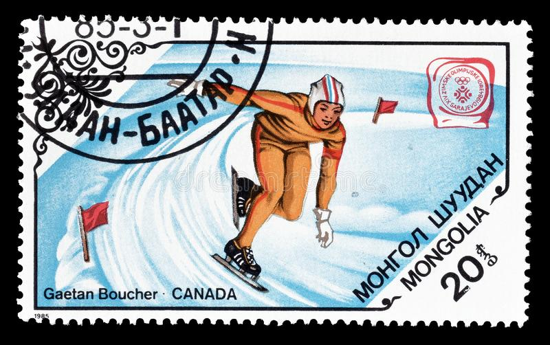Sports on postage stamps royalty free stock images