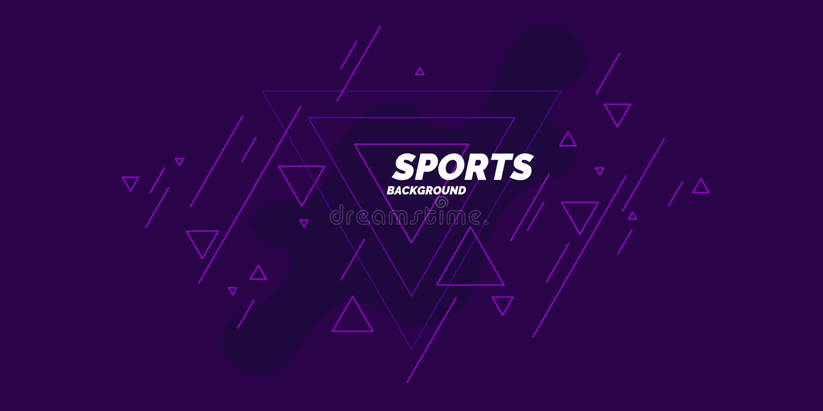 Sports poster. Abstract blobs and geometric shapes on a background. Vector illustration stock illustration