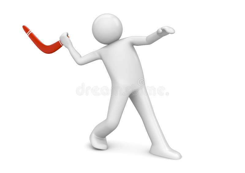 Sports - projection de boomerang illustration libre de droits