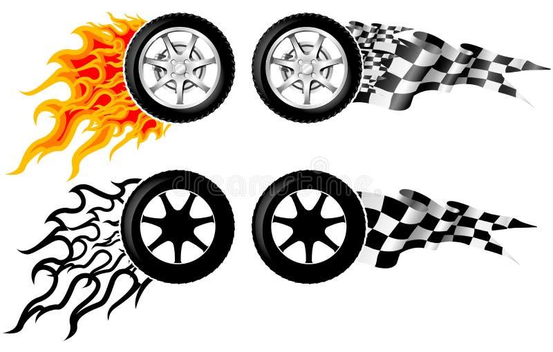 Sports Race Emblems Royalty Free Stock Photo