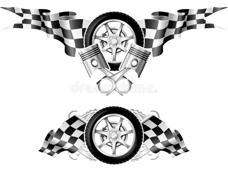 Sports Race Emblems stock photos