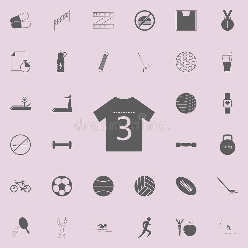 Sports shirt icon. Detailed set of Sport icons. Premium quality graphic design sign. One of the collection icons for websites, web. Design, mobile app on white vector illustration