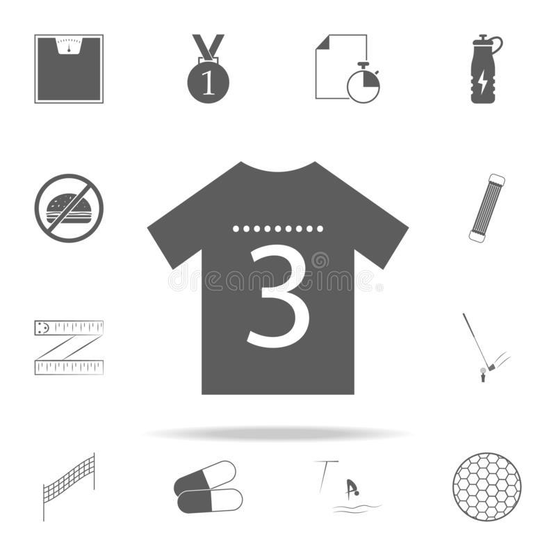 Sports shirt icon. Sport icons universal set for web and mobile. On white background vector illustration