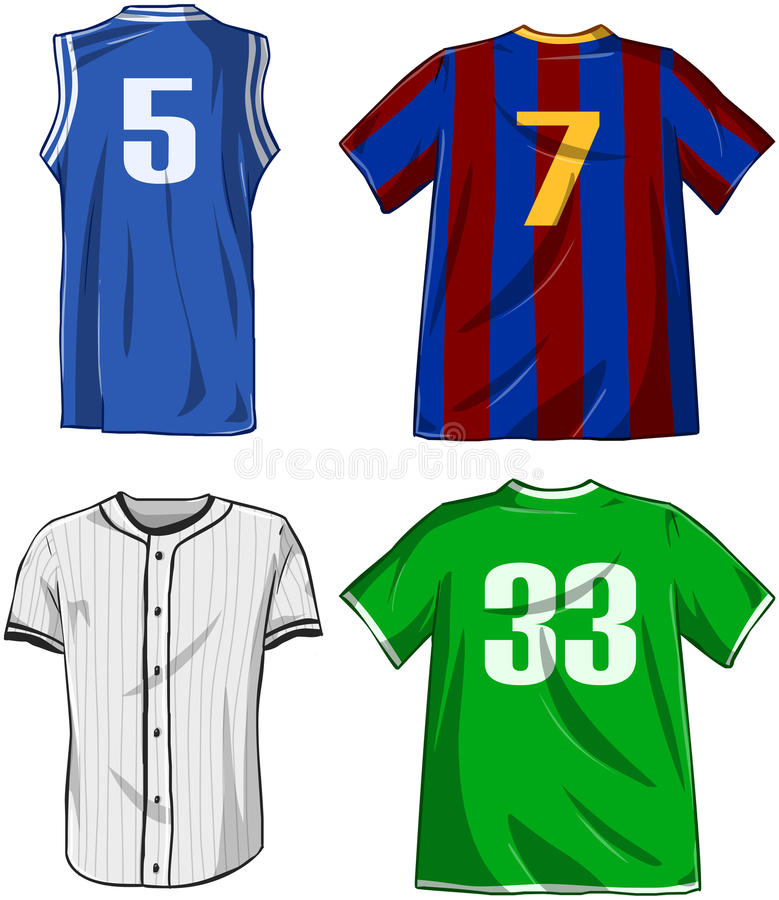 Download Sports Shirts Pack stock vector. Illustration of sleeve - 38489428
