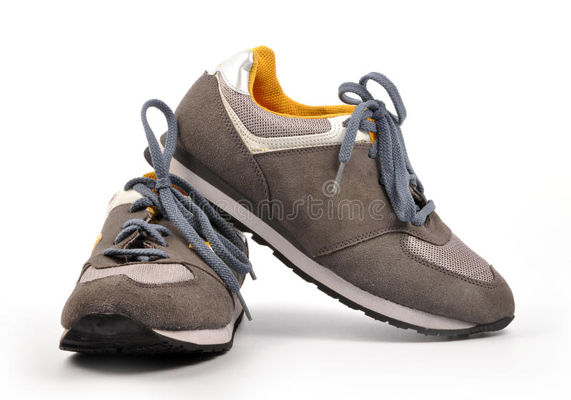 Sports shoes. On white background stock photo