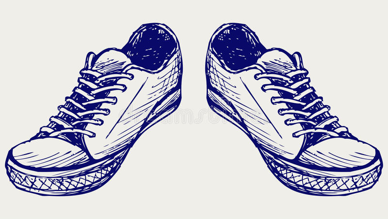 Sports shoes royalty free illustration