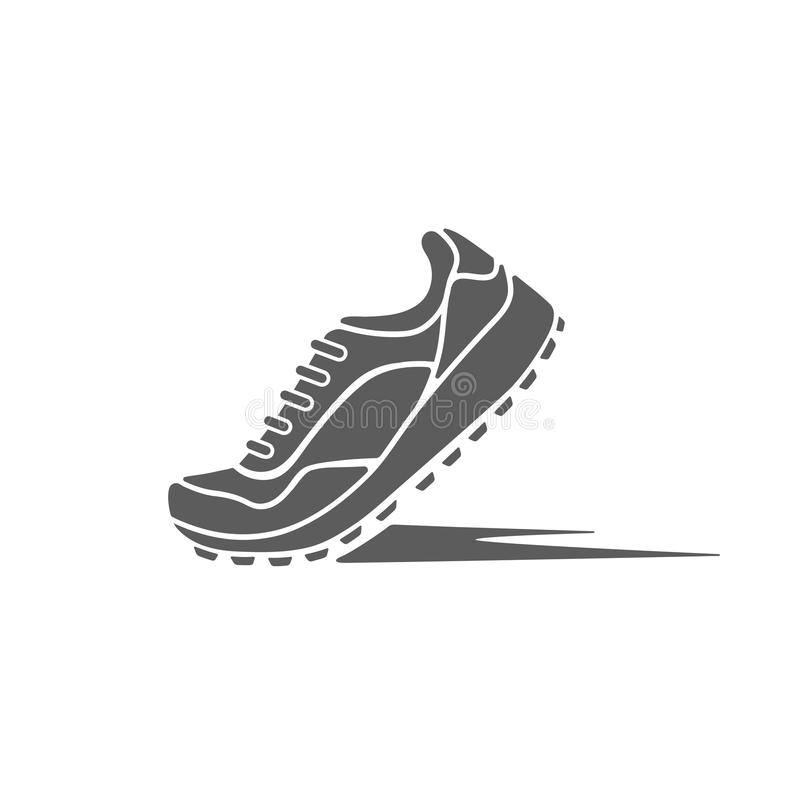 sports shoes of the dynamics royalty free illustration