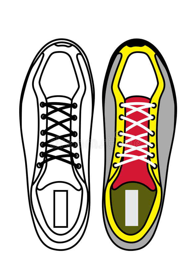 sports shoes top view stock vector illustration of sports 52605900 rh dreamstime com Toddler Shoes Vector top view shoe vector