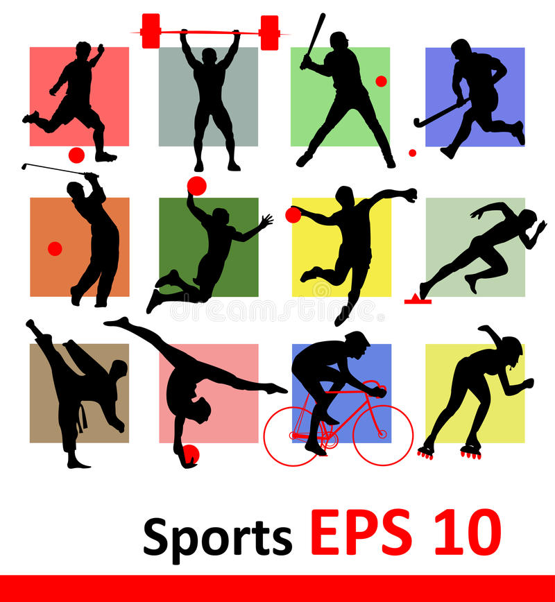 Free Sports Silhouettes Royalty Free Stock Image - 29408306