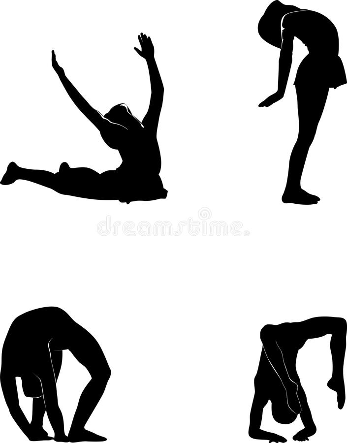 Sports silhouettes vector royalty free illustration