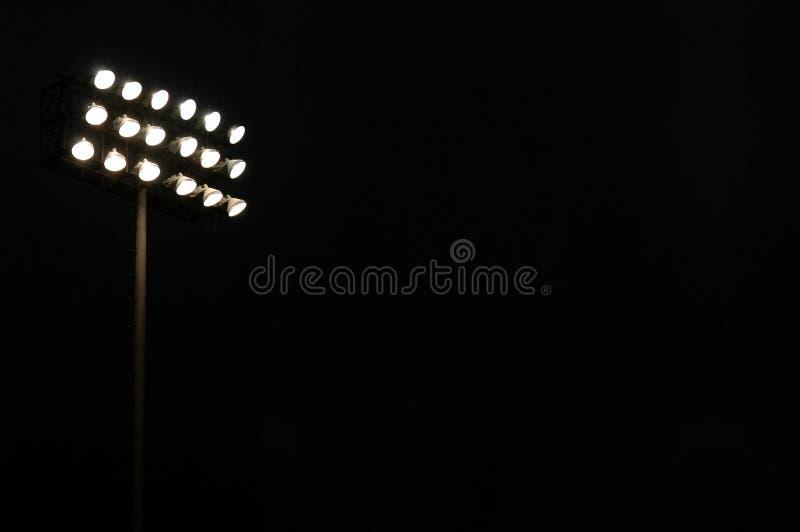 Sports stadium flood lights stock photo