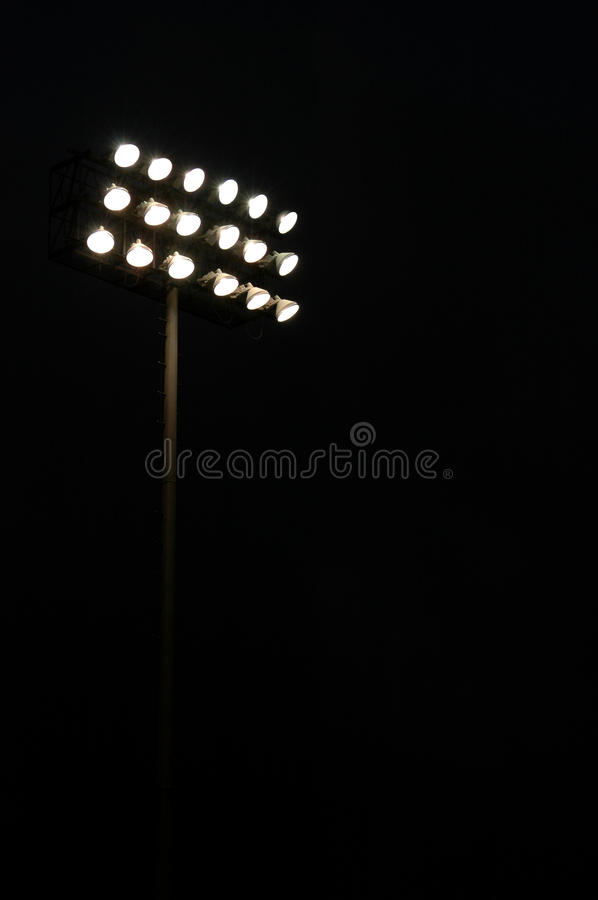 Sports stadium lights stock photography