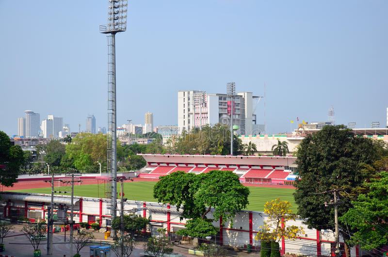 Sports Stadium at thailand stock photo