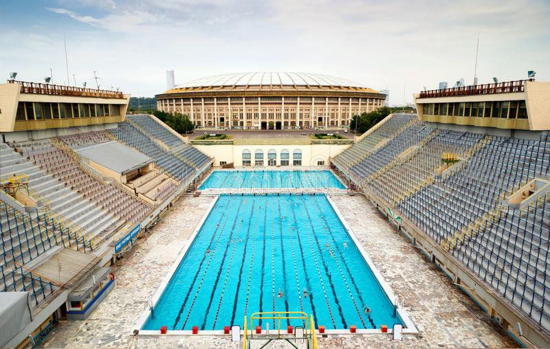 Sports swimming pool in moscow stock image image of for Sport swimming pool design