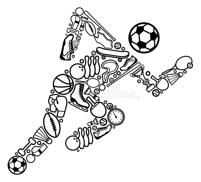 Download Sports symbol stock vector. Image of competition, image - 17494922