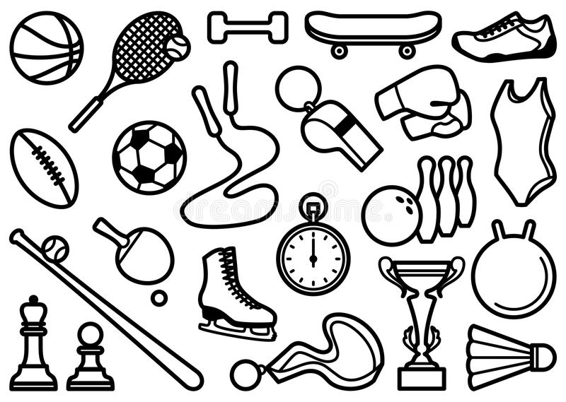 Sports symbols royalty free stock photography