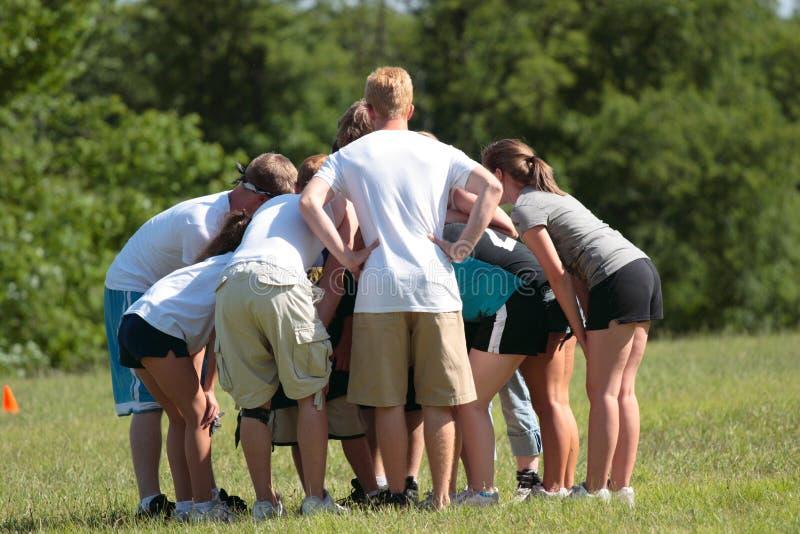Sports Team Huddle 2 stock photography