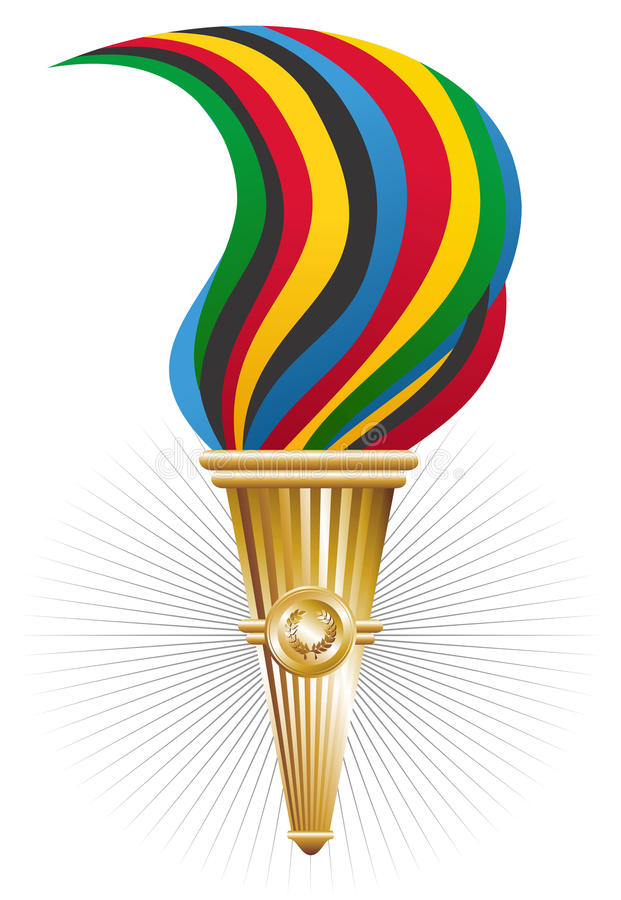 Download Sports torch of triumph stock vector. Image of olympic - 24673501