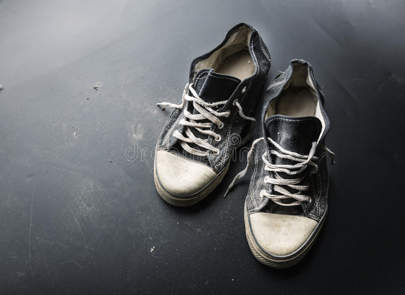 Sports trainers on the floor stock photo