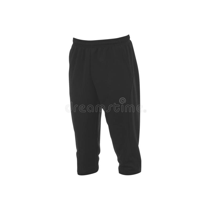Sports trousers on a white. Background stock photos