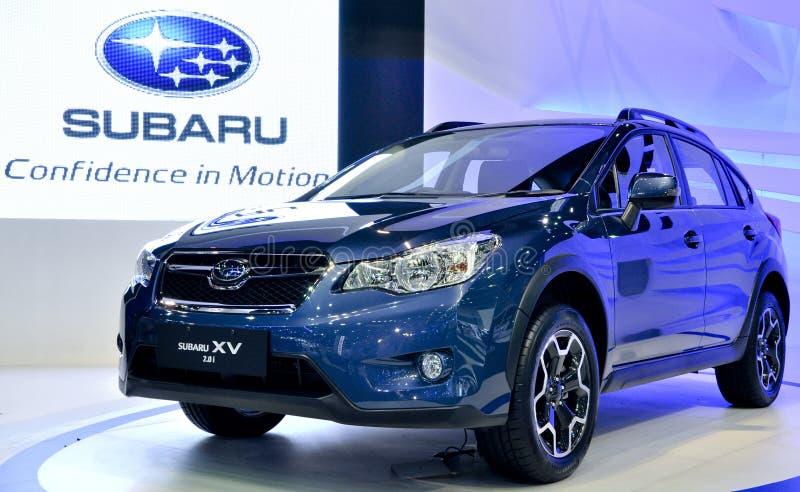 Sports utility vehicle Subaru XV stock photography