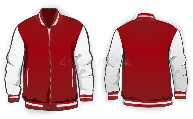 Sports Or Varsity Jacket Template. Stock Vector - Illustration of ...