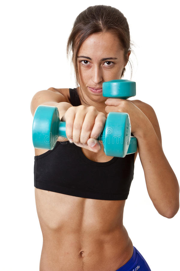 Sports Woman with dumbbells