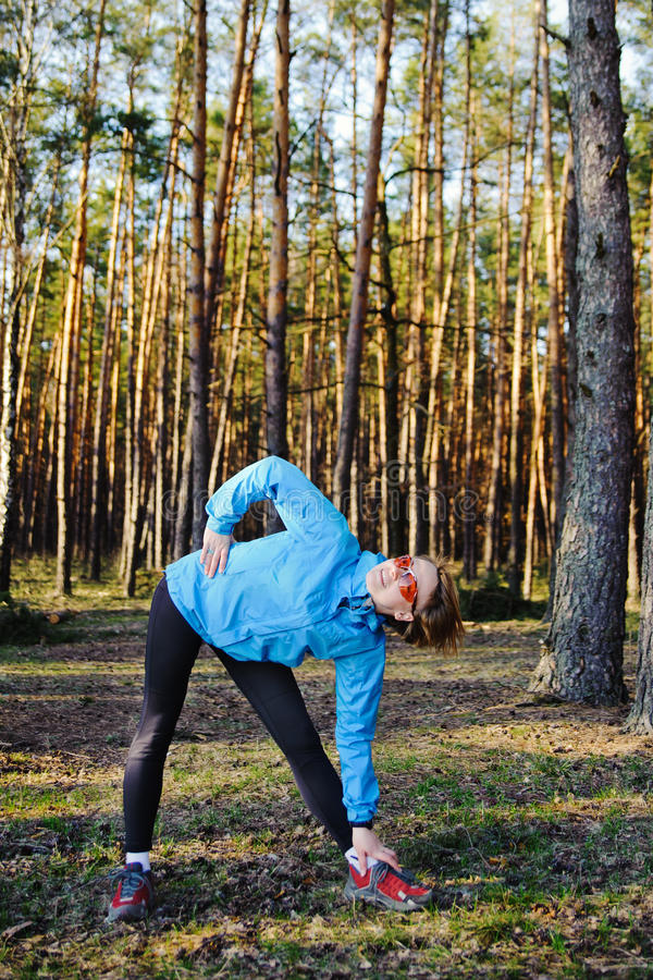Download Sports young girl stock image. Image of motion, stretching - 30520457