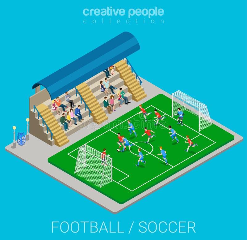 Sportsammlung: Fußball-/Fußballstadionsmatchspiel vektor abbildung