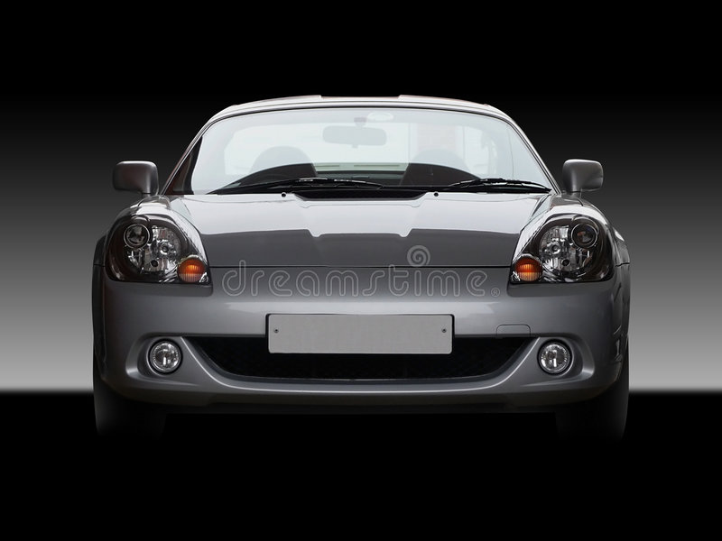 Sportscar. Toyota MR2 / MRS roadster sportscar from front with moody lighting stock images