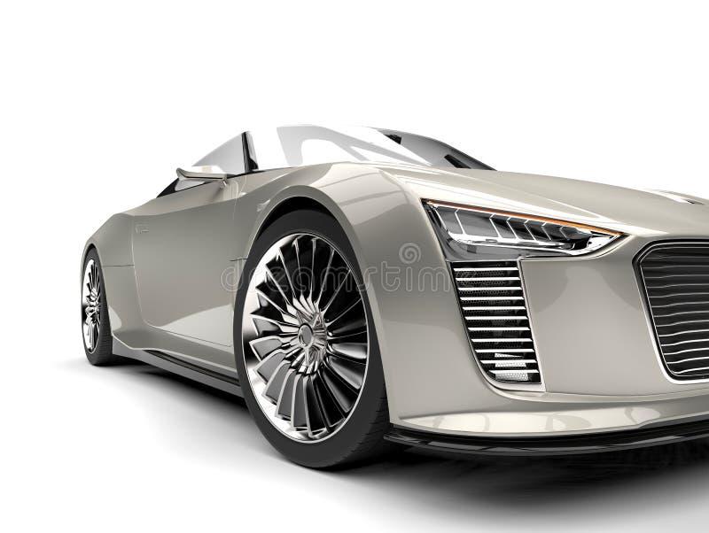 Sportscar modern roadster för väldig silver stock illustrationer