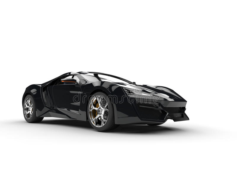 Sportscar negro - iluminación del estudio libre illustration