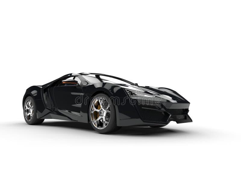 Sportscar nero - illuminazione dello studio royalty illustrazione gratis