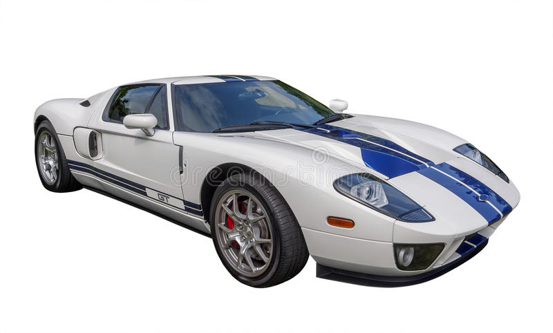 Sportscar, odizolowywający obraz royalty free