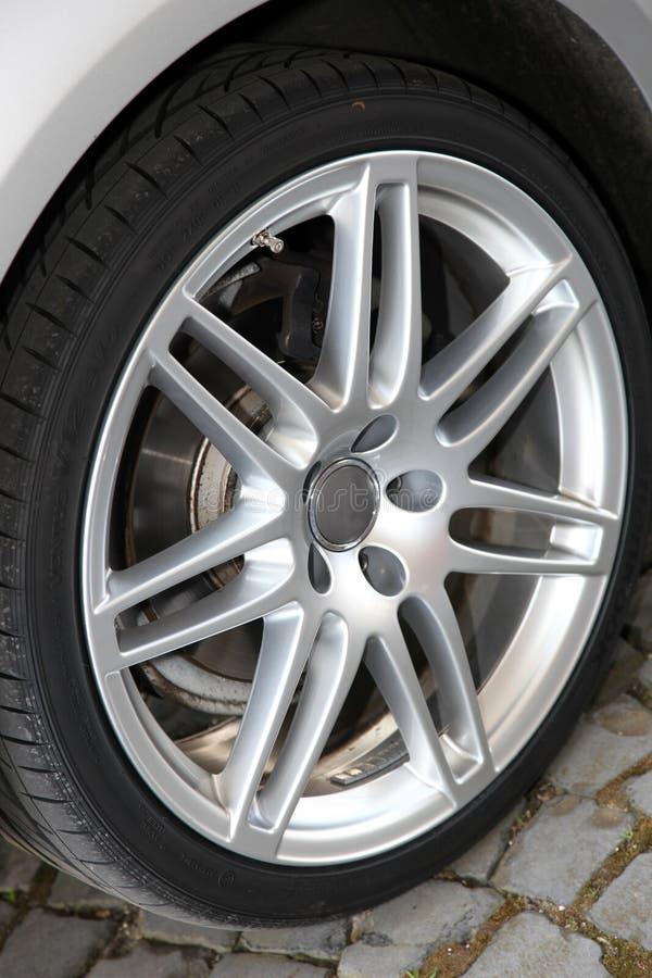 Sportscar wheel detail royalty free stock photo