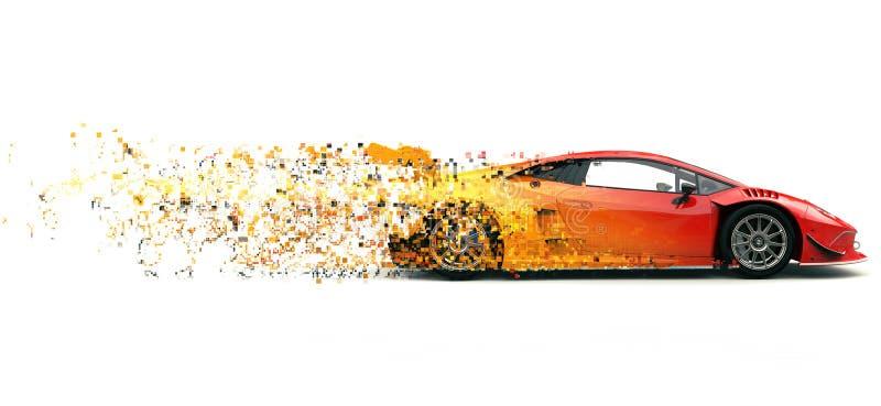 Sportscar woede rood futuristisch ras - pixelsleep FX vector illustratie