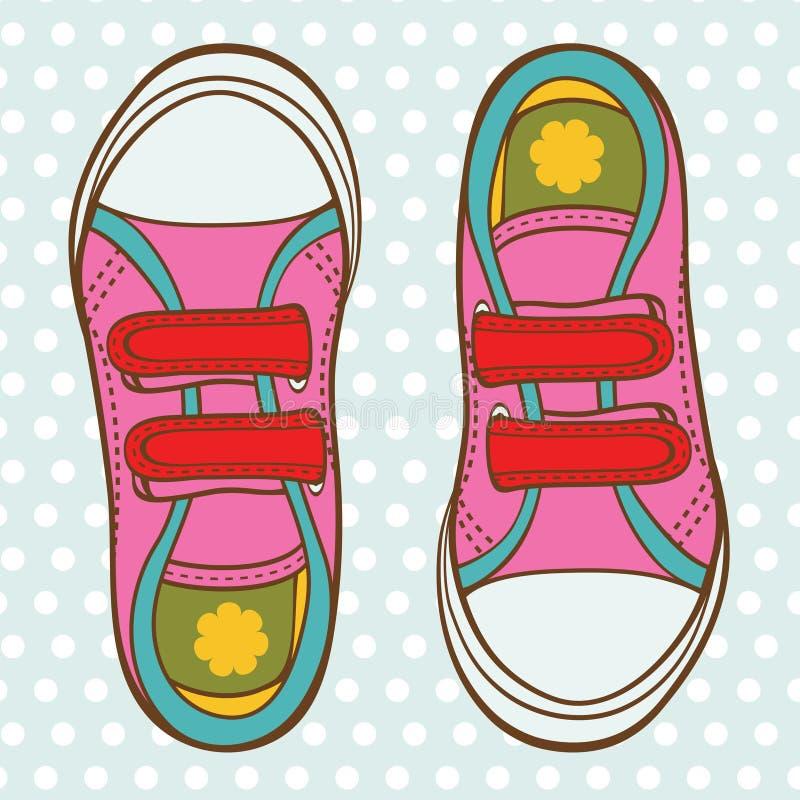 Sportskor för en flicka royaltyfri illustrationer