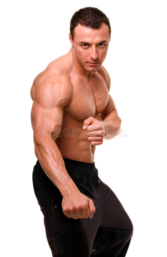 Download Sportsman. stock image. Image of health, bent, copy, boxing - 11866985
