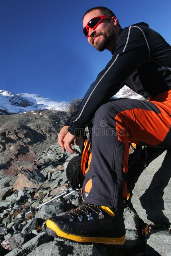 Download Sportsman stock photo. Image of smile, mountaineering - 14636252