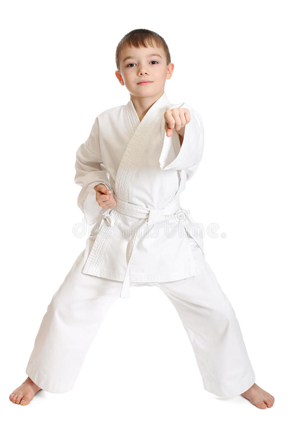 Download Sportsman boy stock image. Image of male, martial, defense - 18614237