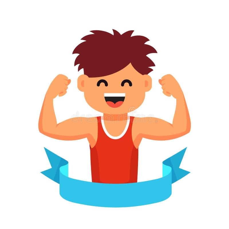 Sportsman Children Healthy Lifestyle Concept Stock Vector