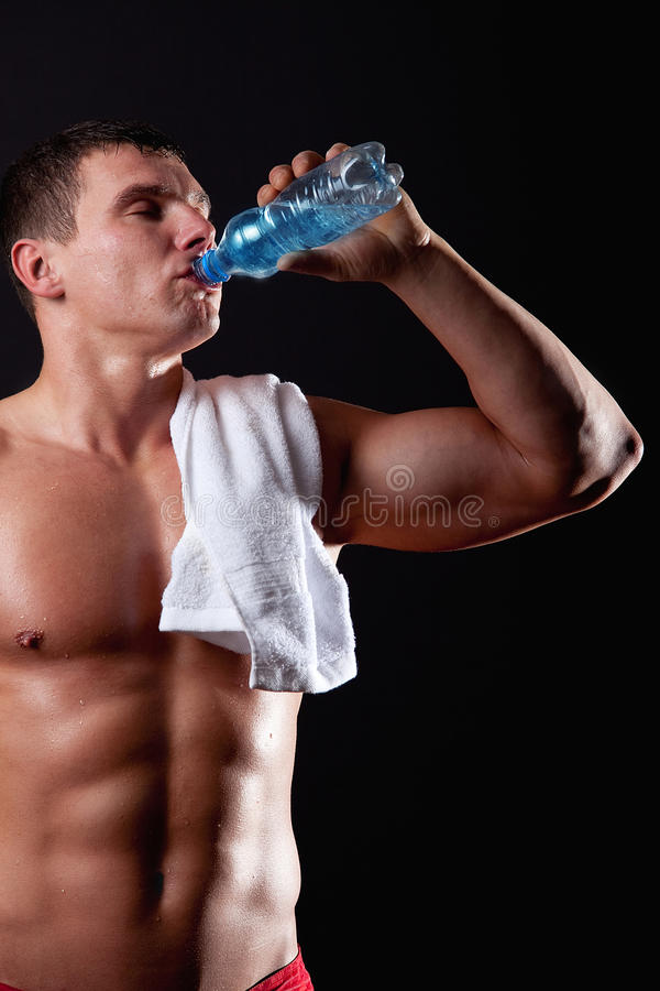 Download Sportsman Drinking Mineral Watet Stock Photos - Image: 12193613