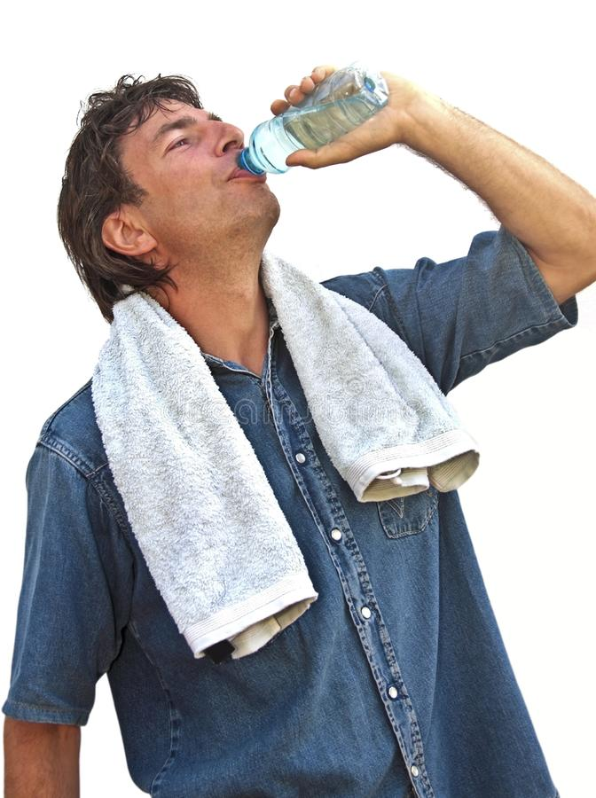 Download Sportsman drinking water stock photo. Image of person - 11275746