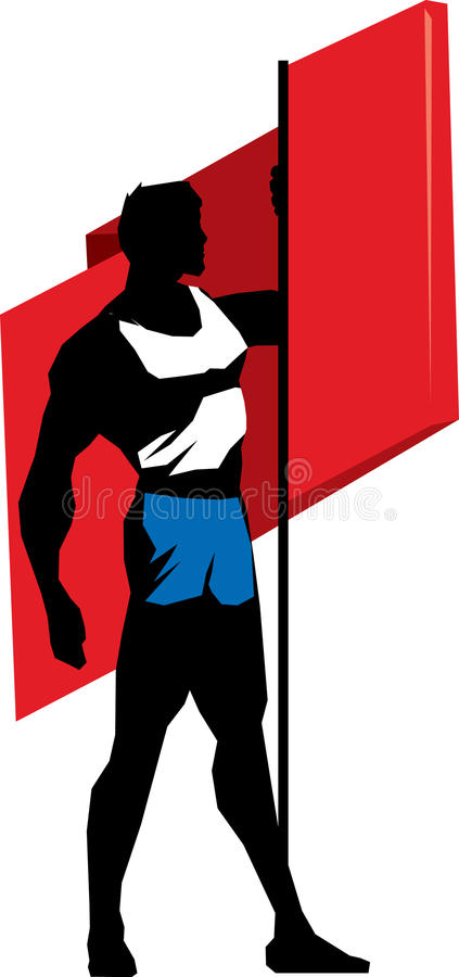 Download Sportsman with flag stock vector. Image of sportsman - 35663612