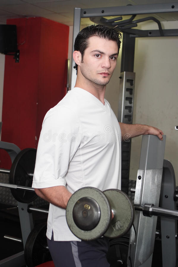 Sportsman at a gym stock photos