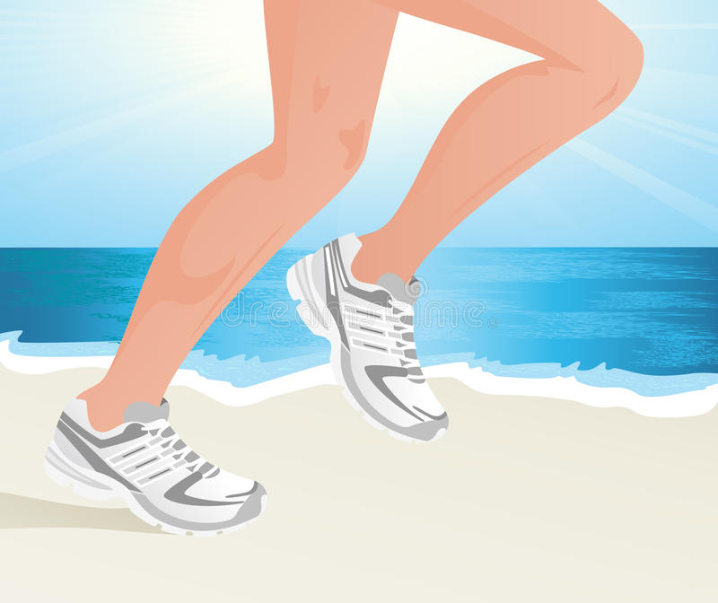 Download Sportsman Running On The Beach Stock Vector - Image: 11884620